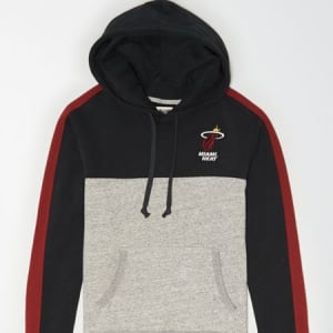 Tailgate Men's Miami Heat Pullover Hoodie Bold Black S