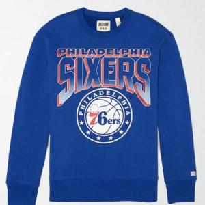 Tailgate Men's Philadelphia 76ers Crew Neck Sweatshirt Brilliant Blue M