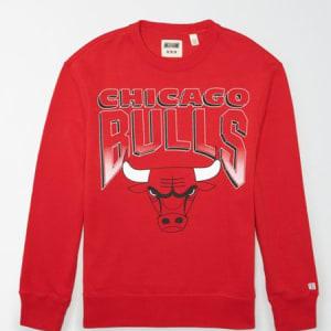 Tailgate Men's Chicago Bulls Crew Neck Sweatshirt Red Beam S