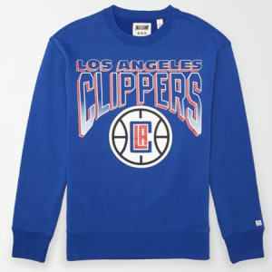 Tailgate Men's LA Clippers Crew Neck Sweatshirt Brilliant Blue