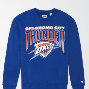 Tailgate Men's Oklahoma City Thunder Crew Neck Sweatshirt Brilliant Blue XS