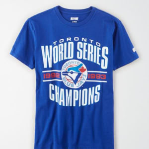 Tailgate Women's Toronto Blue Jays World Series T-Shirt Brilliant Blue S