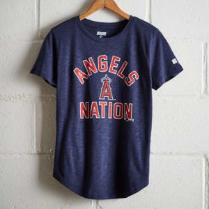 Tailgate Women's Angels Nation T-Shirt Blue M