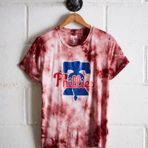 Tailgate Women's Phillies Tie-Dye T-Shirt Red S