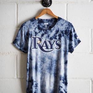 Tailgate Women's Tampa Bay Rays Tie-Dye T-Shirt Blue L