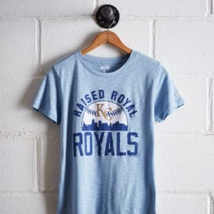 Tailgate Women's Raised Royal T-Shirt Sky Blue XS