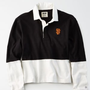 Tailgate Women's SF Giants Rugby Shirt Bold Black M
