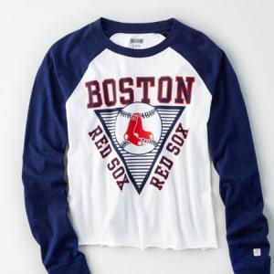 Tailgate Women's Boston Red Sox Baseball Shirt White M