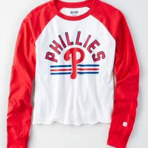 Tailgate Women's Philadelphia Phillies Baseball Shirt White S