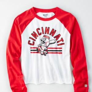 Tailgate Women's Cincinnati Reds Baseball Shirt White M