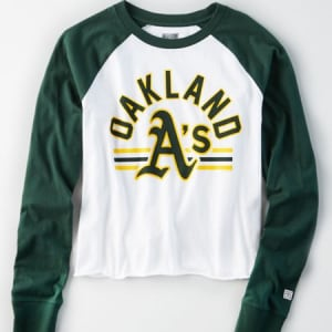Tailgate Women's Oakland A's Baseball Shirt White M