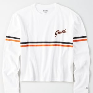 Tailgate Women's San Francisco Giants Cropped T-Shirt White S