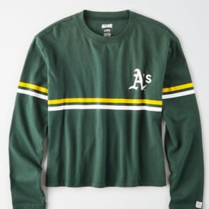 Tailgate Women's Oakland A's Cropped T-Shirt Leaf Green S
