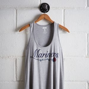 Tailgate Women's Seattle Mariners Scoop Neck Tank Gray Heather S