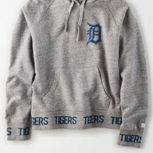 Tailgate Women's Detroit Tigers Pullover Hoodie Gray Heather XS
