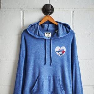 Tailgate Women's Toronto Blue Jays Plush Hoodie Royal Blue M