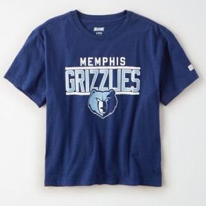 Tailgate Women's Memphis Grizzlies Cropped T-Shirt Blue M