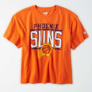 Tailgate Women's Phoenix Suns Cropped T-Shirt Orange XL