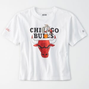 Tailgate Women's Chicago Bulls x Looney Tunes Cropped T-Shirt White L
