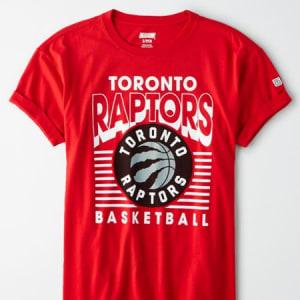 Tailgate Women's Toronto Raptors Rolled Sleeve T-Shirt Red Beam M