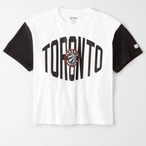 Tailgate Women's Toronto Blue Jays Cropped T-Shirt White S
