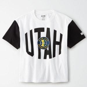 Tailgate Women's Utah Jazz Cropped T-Shirt White L