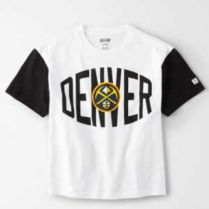 Tailgate Women's Denver Nuggets Cropped T-Shirt White XL