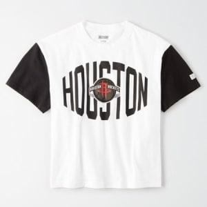 Tailgate Women's Houston Rockets Cropped T-Shirt White XL