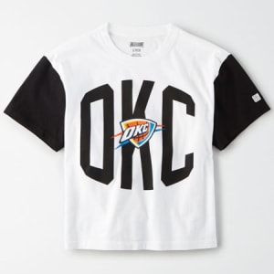 Tailgate Women's Oklahoma City Thunder Cropped T-Shirt White XS