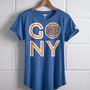 Tailgate Women's Go NY Knicks T-Shirt Royal Blue S