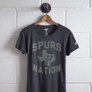 Tailgate Women's San Antonio Spurs T-Shirt Storm Dark M