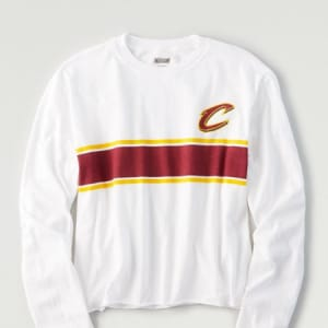 Tailgate Women's Cleveland Cavaliers Long Sleeve T-Shirt White L