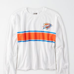 Tailgate Women's Oklahoma City Thunder Long Sleeve T-Shirt White L