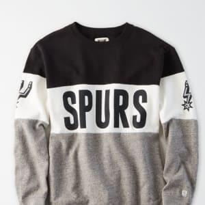 Tailgate Women's San Antonio Spurs Colorblock Sweatshirt Bold Black XS