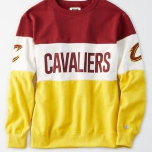 Tailgate Women's Cleveland Cavaliers Colorblock Sweatshirt Burgundy S