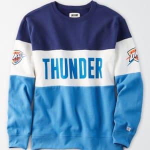 Tailgate Women's Oklahoma City Thunder Colorblock Sweatshirt Blue XS