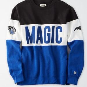 Tailgate Women's Orlando Magic Colorblock Sweatshirt Bold Black M