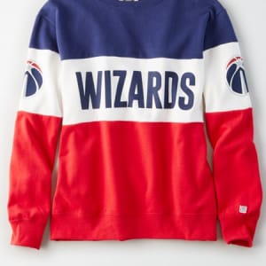 Tailgate Women's Washington Wizards Colorblock Sweatshirt Blue XS