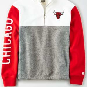 Tailgate Women's Chicago Bulls Quarter-Zip Sweatshirt White XL