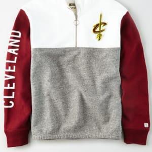 Tailgate Women's Cleveland Cavaliers Quarter-Zip Sweatshirt White M