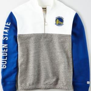 Tailgate Women's Golden State Warriors Quarter-Zip Sweatshirt White XL