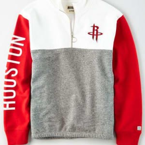 Tailgate Women's Houston Rockets Quarter-Zip Sweatshirt White XL