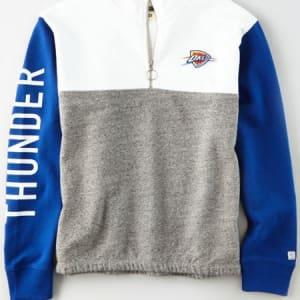 Tailgate Women's Oklahoma City Thunder Quarter-Zip Sweatshirt White L