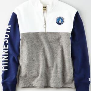 Tailgate Women's Minnesota Timberwolves Quarter-Zip Sweatshirt White S