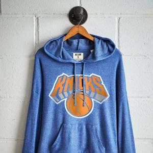 Tailgate Women's Knicks Plush Hoodie Royal Blue L