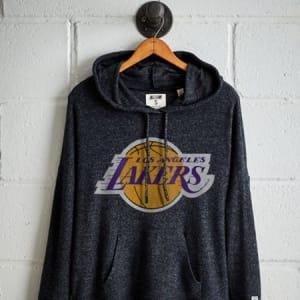 Tailgate Women's LA Lakers Plush Hoodie Charcoal XS