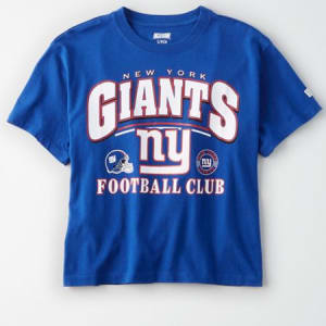 Tailgate Women's New York Giants Cropped T-Shirt Cobalt Blue L
