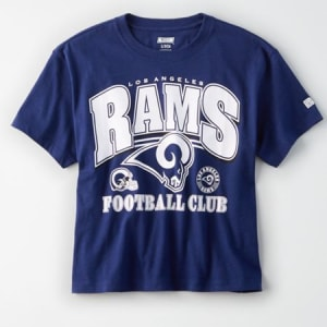 Tailgate Women's Los Angeles Rams Cropped T-Shirt Blue S