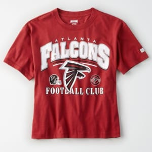 Tailgate Women's Atlanta Falcons Cropped T-Shirt Red S