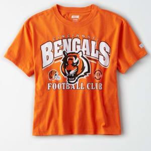 Tailgate Women's Cincinnati Bengals Cropped T-Shirt Orange XL